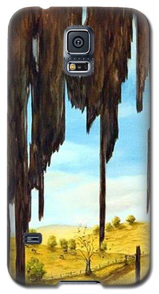 Laundry Through The Grain Galaxy S5 Case by Anna-maria Dickinson