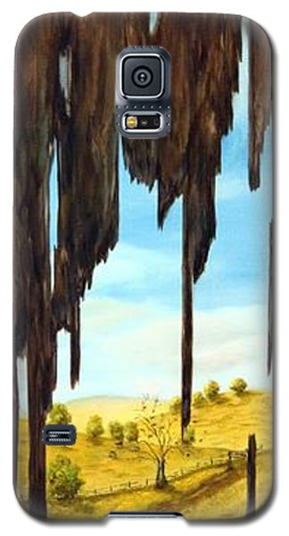 Galaxy S5 Case featuring the painting Laundry Through The Grain by Anna-maria Dickinson