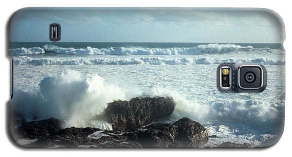 Galaxy S5 Case featuring the photograph Lava Beach Rocks On 90 Mile Beach by Mark Dodd