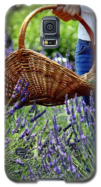 Lavender And Basket Galaxy S5 Case