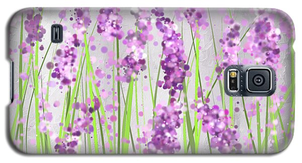 Lavender Blossoms - Lavender Field Painting Galaxy S5 Case by Lourry Legarde