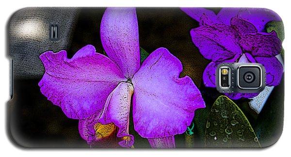 Lavender Catleya Orchid Galaxy S5 Case