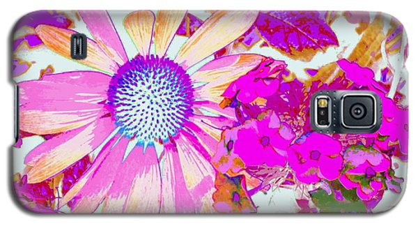 Galaxy S5 Case featuring the photograph Lavender Echinacea by Annie Zeno