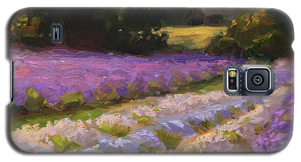 Lavender Farm Landscape Painting - Barn And Field At Sunset Impressionism  Galaxy S5 Case