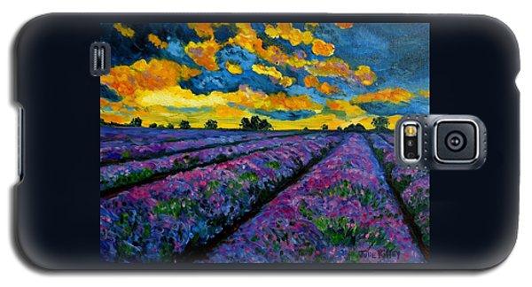 Lavender Fields At Dusk Galaxy S5 Case by Julie Brugh Riffey