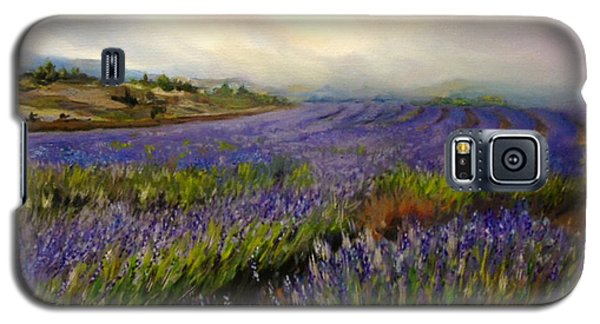 Galaxy S5 Case featuring the painting Lavender In Oil by Lori Ippolito