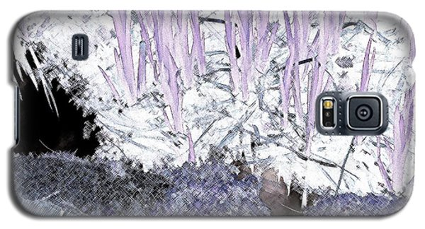 Galaxy S5 Case featuring the photograph Lavender Pond Abstract by Ann Johndro-Collins