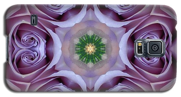 Lavender Rose Mandala Galaxy S5 Case