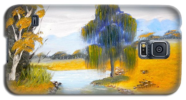 Galaxy S5 Case featuring the painting Lawson River by Pamela  Meredith