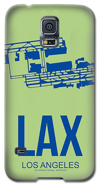 Lax Airport Poster 1 Galaxy S5 Case by Naxart Studio
