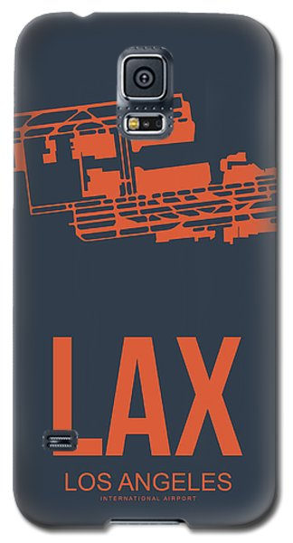 Lax Airport Poster 3 Galaxy S5 Case by Naxart Studio