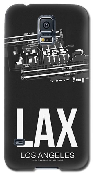 Lax Los Angeles Airport Poster 3 Galaxy S5 Case by Naxart Studio