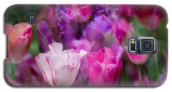 Layers Of Tulips Galaxy S5 Case
