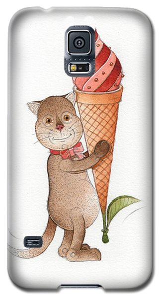Ice Galaxy S5 Case - Lazy Cats11 by Kestutis Kasparavicius