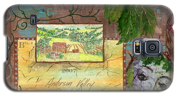 Galaxy S5 Case featuring the painting Lazy Creek Vineyards by Tamyra Crossley