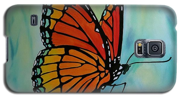 Galaxy S5 Case featuring the painting Le Beau Papillon by Jo Appleby