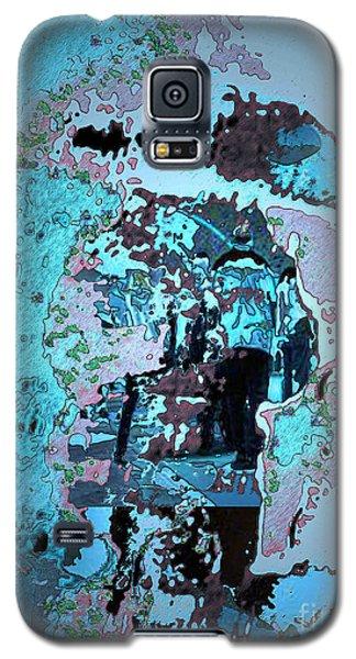 Galaxy S5 Case featuring the digital art Le Parapluie by Mojo Mendiola