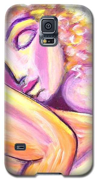 Galaxy S5 Case featuring the painting Leaning On You by Anya Heller