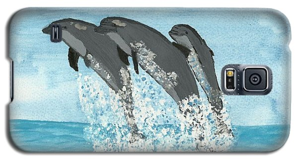 Leaping Dolphins Galaxy S5 Case by Tracey Williams