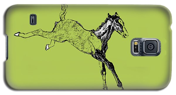 Horse Galaxy S5 Case - Leaping Foal Greens by JAMART Photography