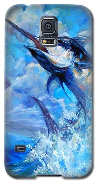 Swordfish Galaxy S5 Case - Leaping Marlin by Tom Dauria
