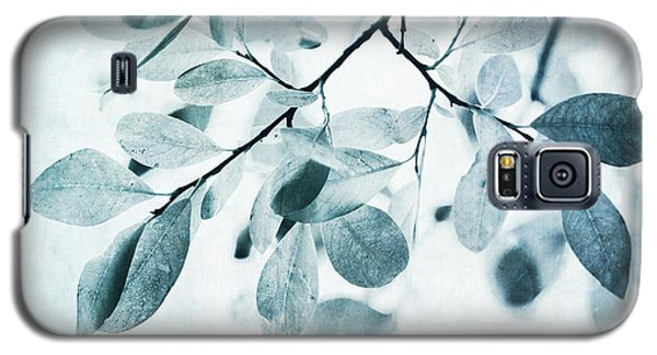 Galaxy S5 Case - Leaves In Dusty Blue by Priska Wettstein