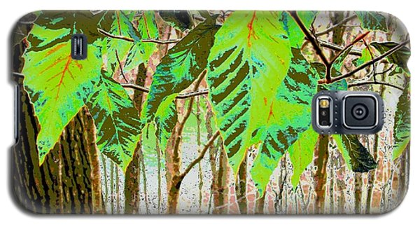 Leaves Galaxy S5 Case by Sally Simon