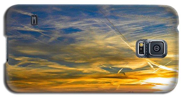 Leavin On A Jetplane Sunset Galaxy S5 Case by Nick Kirby