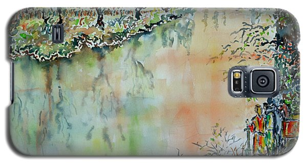 Galaxy S5 Case featuring the painting Leaving Middle Earth - Dedicated To J. by Alfred Motzer