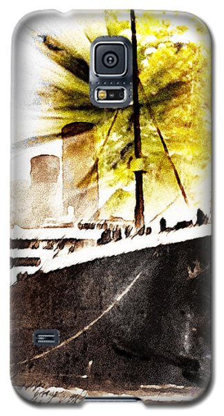 Galaxy S5 Case featuring the digital art Leaving Ship by Andrea Barbieri