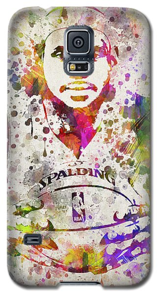 Lebron James In Color Galaxy S5 Case by Aged Pixel