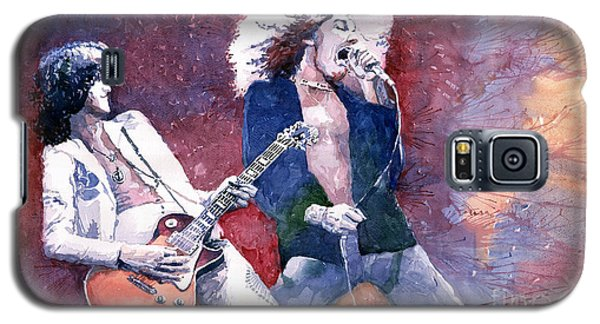 Led Zeppelin Jimmi Page And Robert Plant  Galaxy S5 Case by Yuriy  Shevchuk