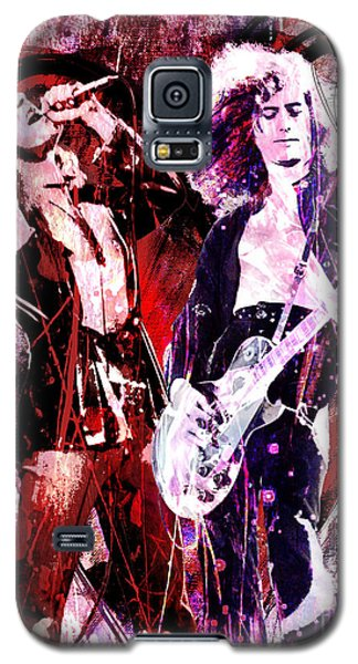 Led Zeppelin - Jimmy Page And Robert Plant Galaxy S5 Case by Ryan Rock Artist