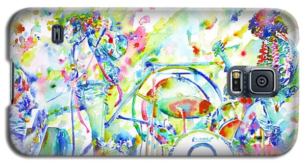 Led Zeppelin Live Concert - Watercolor Painting Galaxy S5 Case by Fabrizio Cassetta