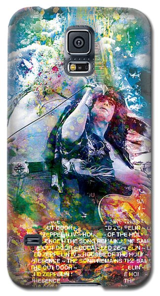 Led Zeppelin Original Painting Print  Galaxy S5 Case by Ryan Rock Artist