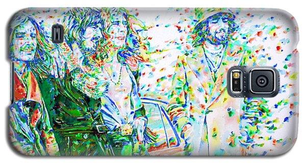 Led Zeppelin - Watercolor Portrait.2 Galaxy S5 Case by Fabrizio Cassetta