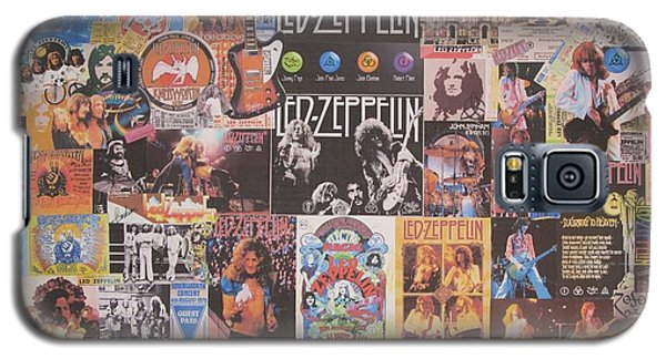 Drum Galaxy S5 Case - Led Zeppelin Years Collage by Donna Wilson