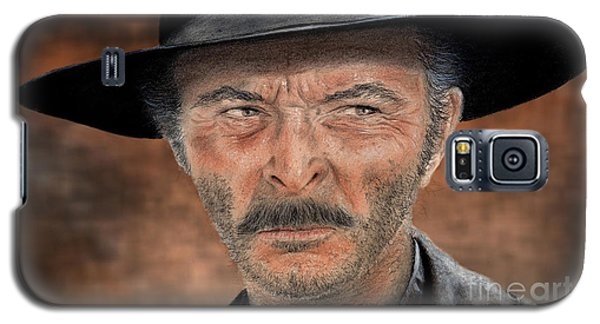 Lee Van Cleef As Angel Eyes In The Good The Bad And The Ugly Version II Galaxy S5 Case by Jim Fitzpatrick