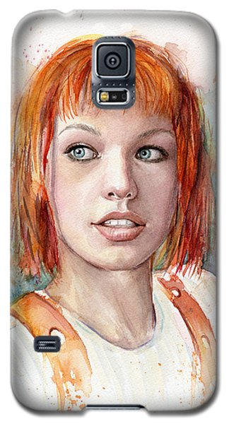 Leeloo Portrait Multipass The Fifth Element Galaxy S5 Case by Olga Shvartsur