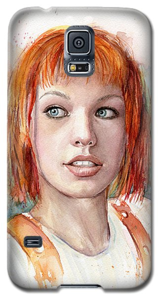 Dallas Galaxy S5 Case - Leeloo Portrait Multipass The Fifth Element by Olga Shvartsur