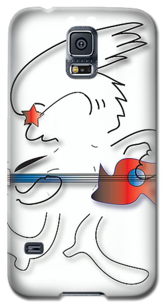 Left Handed Guitarist Galaxy S5 Case by Marvin Blaine