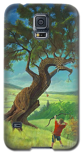 Galaxy S5 Case featuring the painting Legendary Archer by Rob Corsetti