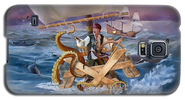 Galaxy S5 Case featuring the painting Legendary Pirate by Rob Corsetti