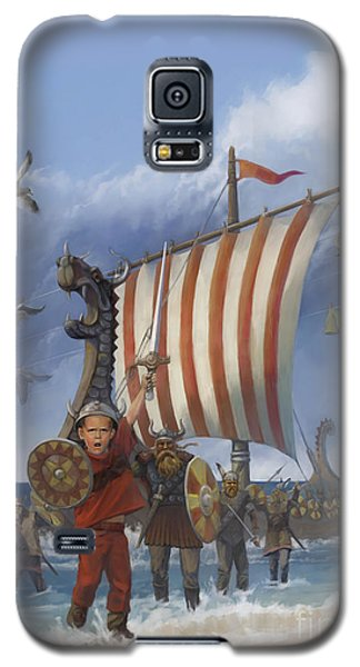 Galaxy S5 Case featuring the painting Legendary Viking by Rob Corsetti