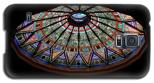 Lehigh University Linderman Library Rotunda Window Galaxy S5 Case by Jacqueline M Lewis