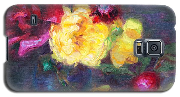 Lemon And Magenta - Flowers And Radish Galaxy S5 Case