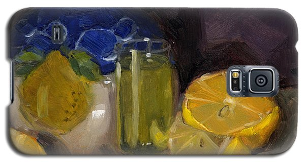 Galaxy S5 Case featuring the painting Lemon Light by Nancy  Parsons