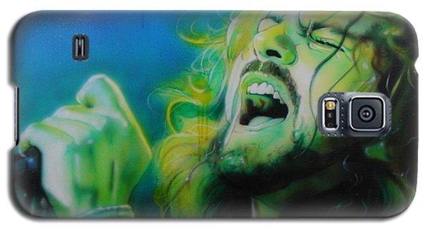 Eddie Vedder - ' Lemon Yellow Sun ' Galaxy S5 Case by Christian Chapman Art