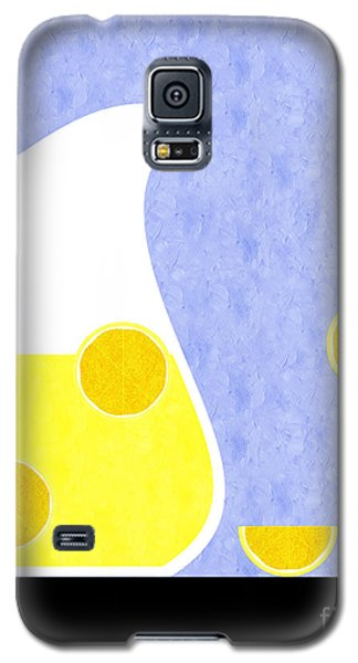 Lemonade And Glass Blue Galaxy S5 Case by Andee Design