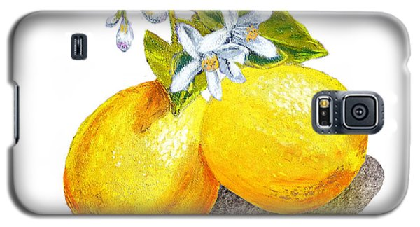 Lemons And Blossoms Galaxy S5 Case by Irina Sztukowski